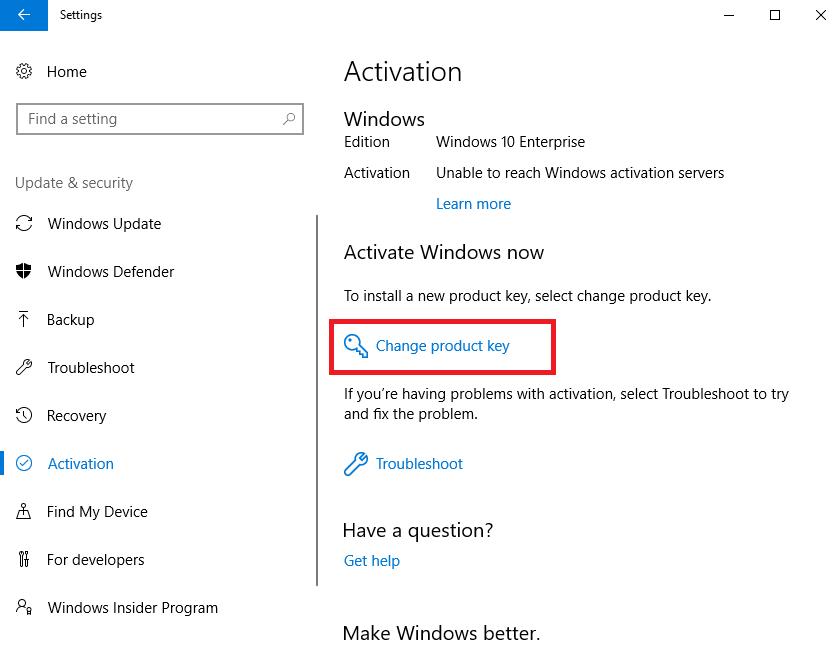 Hướng dẫn thay đổi product key trên Windows 10