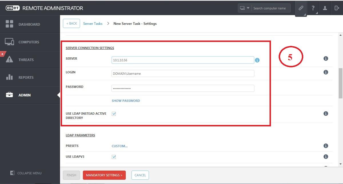 Đồng bộ Eset Remote Adminstrator với Active Directory