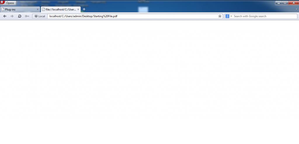 Cấu hình Opera sử dụng Foxit PDF Plugin