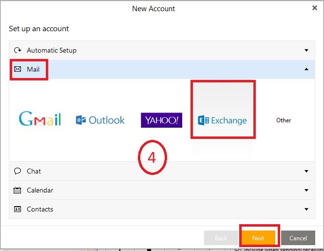 Đồng bộ eM Client với Microsoft Exchange