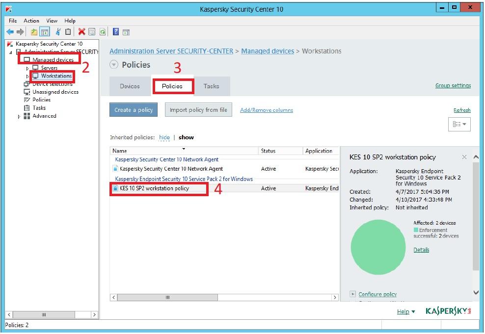 TeamViewer không hoạt động sau khi cài Kaspersky Endpoint Security