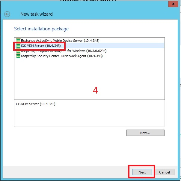 Cài đặt iOS MDM Mobile Devices Server trên Kaspersky Security Center