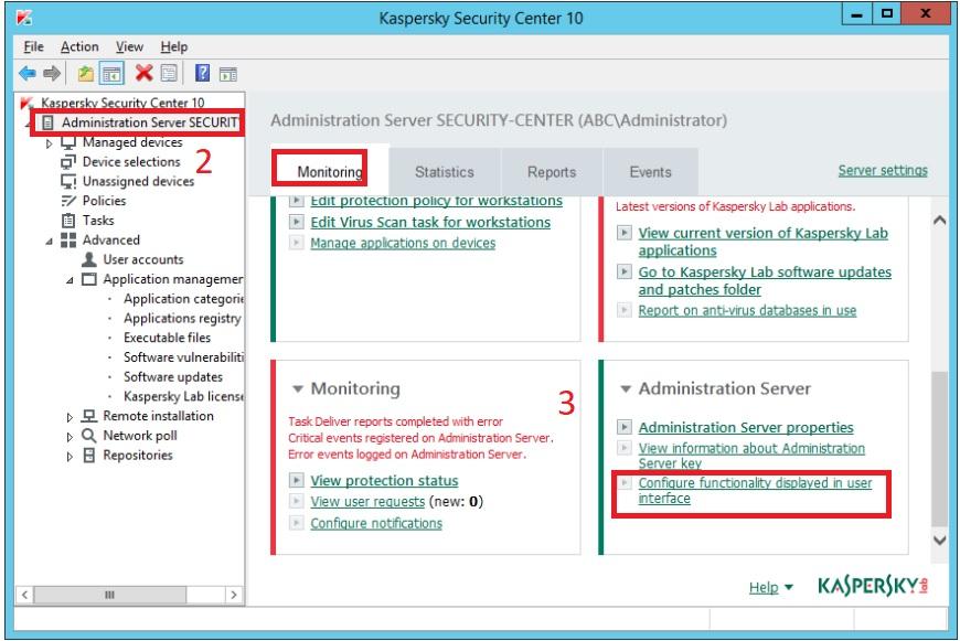 Hướng dẫn bật tính năng mã hóa trong Kaspersky Security Center