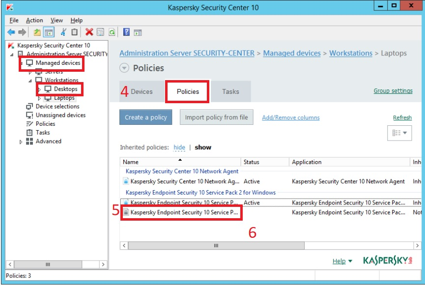 Hướng dẫn mã hóa ổ đĩa rời trên Kaspersky Security Center