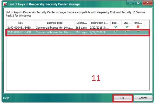 Hướng dẫn add key cho Client trong Kaspersky Security Center