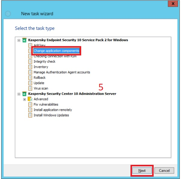 Tạo Task mã hóa file trong Kaspersky Security Center
