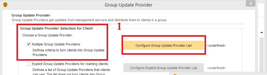 Hướng dẫn download update từ Group Update Providers trong Symantec