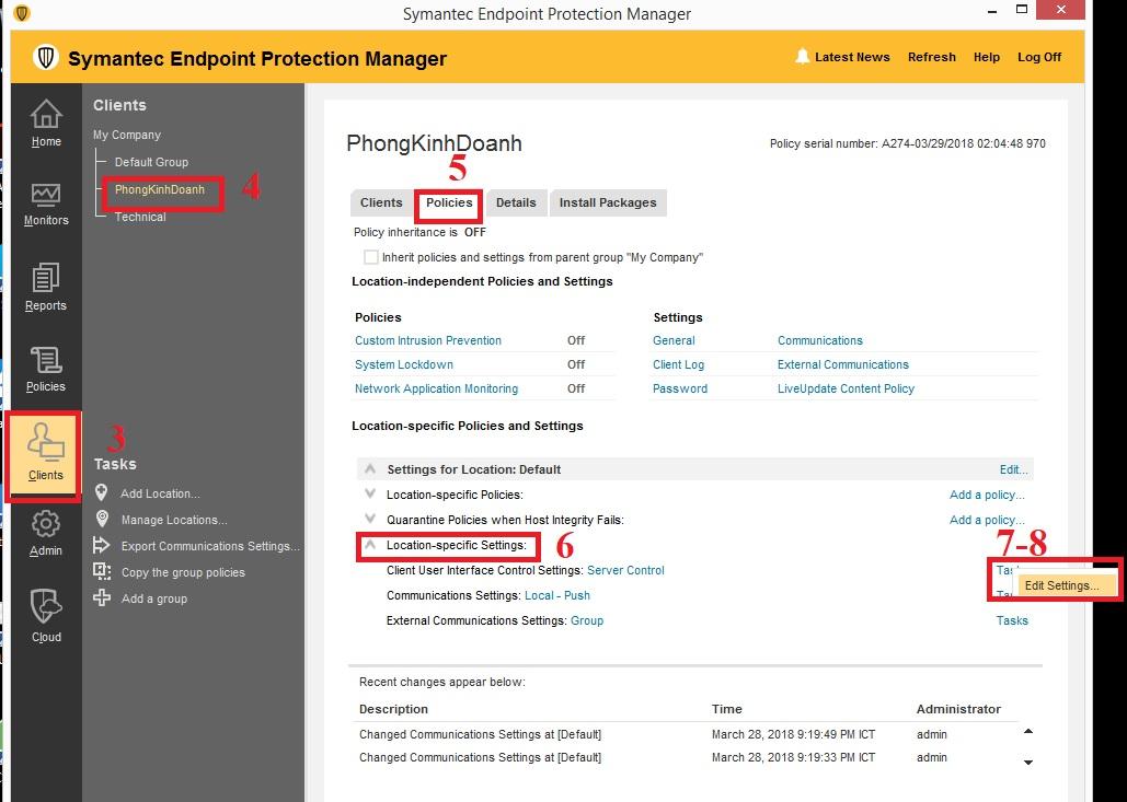 Hướng dẫn khóa giao diện Symantec Endpoint Protection Client