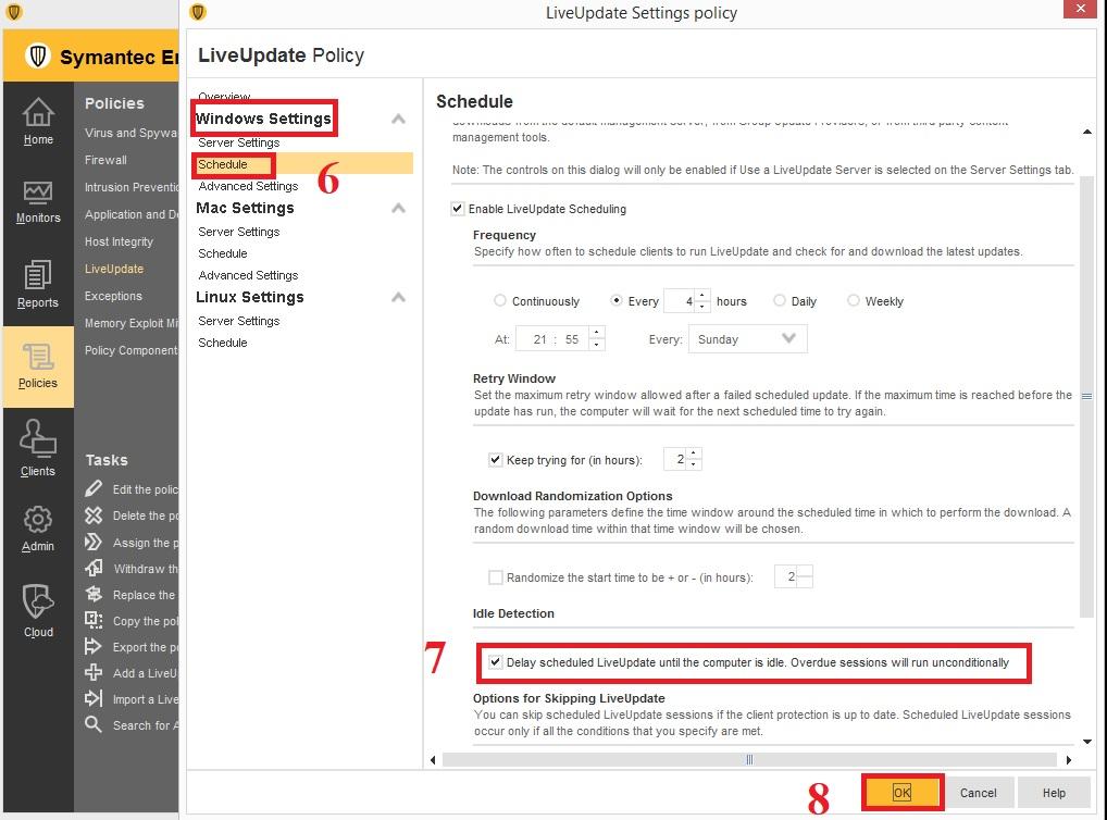 Cấu hình updates khi Client offline trong Symantec Endpoint Protection