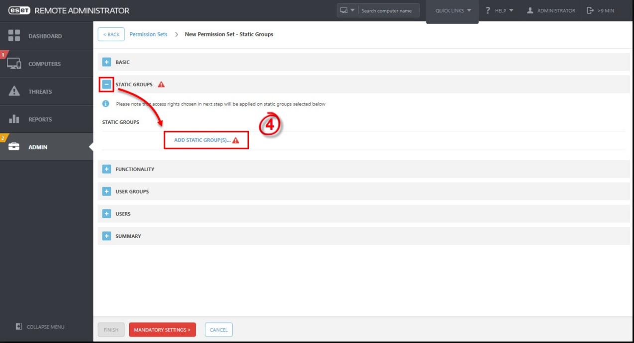 Hướng dẫn cấp quyền cho user trong ESET Remote Administrator