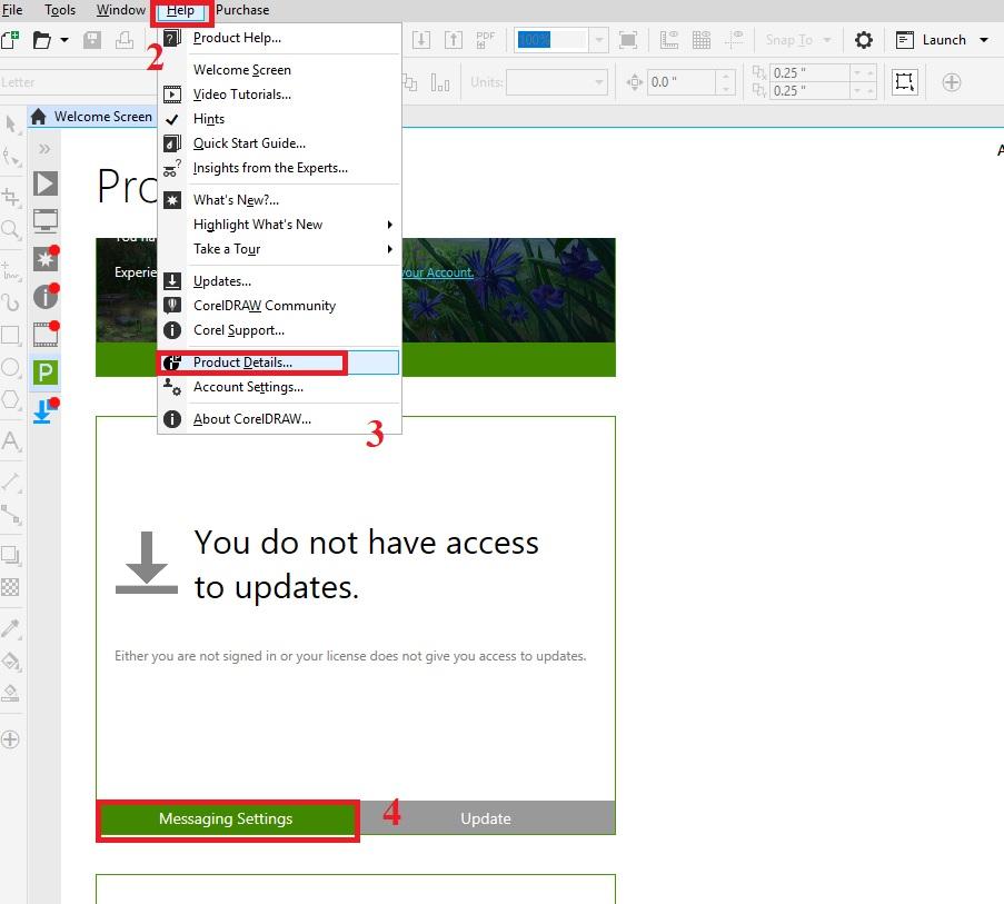 Hướng dẫn tắt quảng cáo trong CorelDRAW Graphics Suite