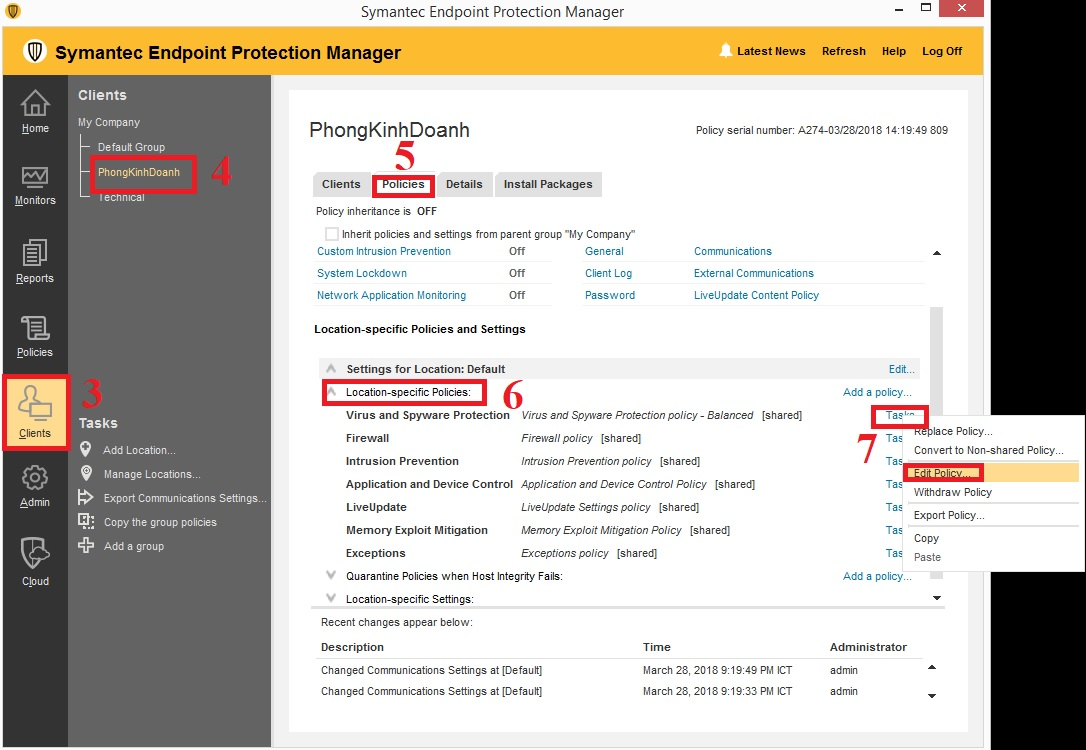 Hạn chế người dùng vô hiệu hóa Symantec Endpoint Protection Client
