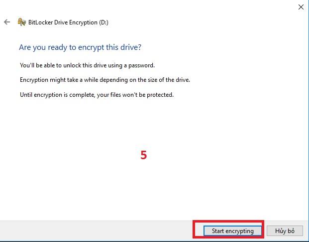 Hướng dẫn sử dụng BitLocket để mã hóa dữ liệu