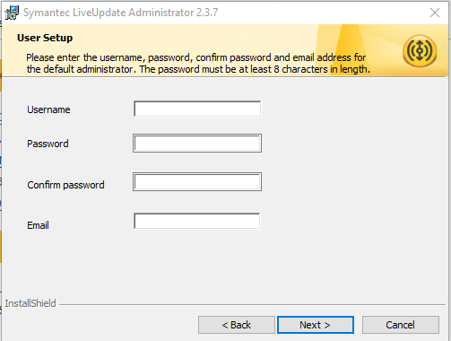 Hướng dẫn cài đặt Symantec LiveUpdate Administrator